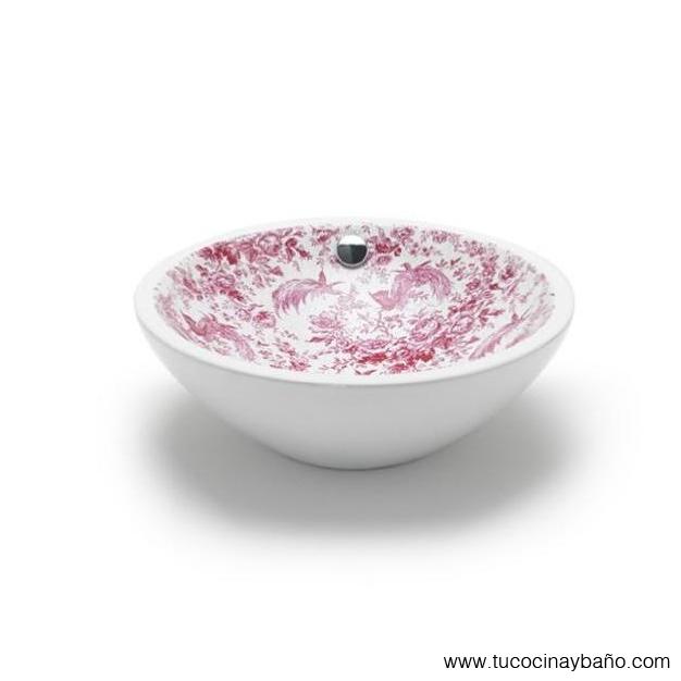 Toile de Jouy lavabo porcelana