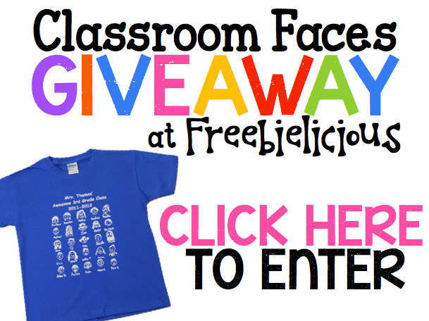 http://freebie-licious.blogspot.com/2014/10/classroom-faces-custom-t-shirt-giveaway.html