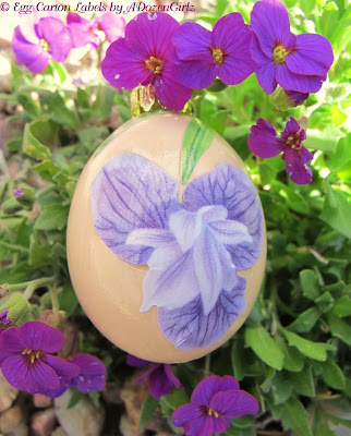 Blown and decorated egg