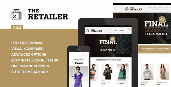 The Retailer Responsive WordPress Theme Download Free [Current Version 2.2.8]