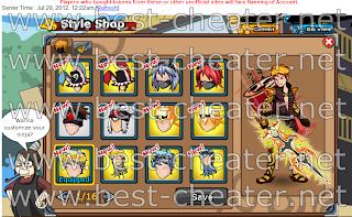All Hairstyle Ninja Saga