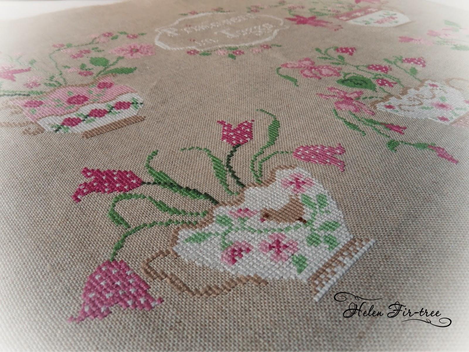 Helen Fir-tree вышивка крестом cross-stitch Primavera in Tassa