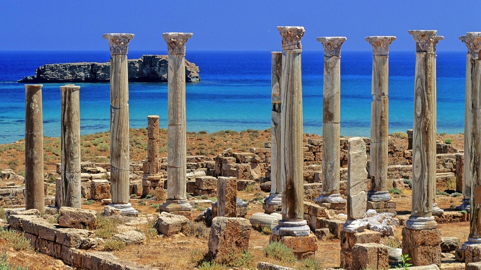Travel trip journey sabratha roman ruins libya