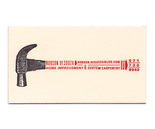 Love this concept for a handyman business card