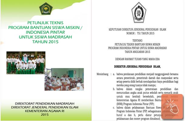 Juknis BSM PIP Siswa Madrasah Tahun 2015