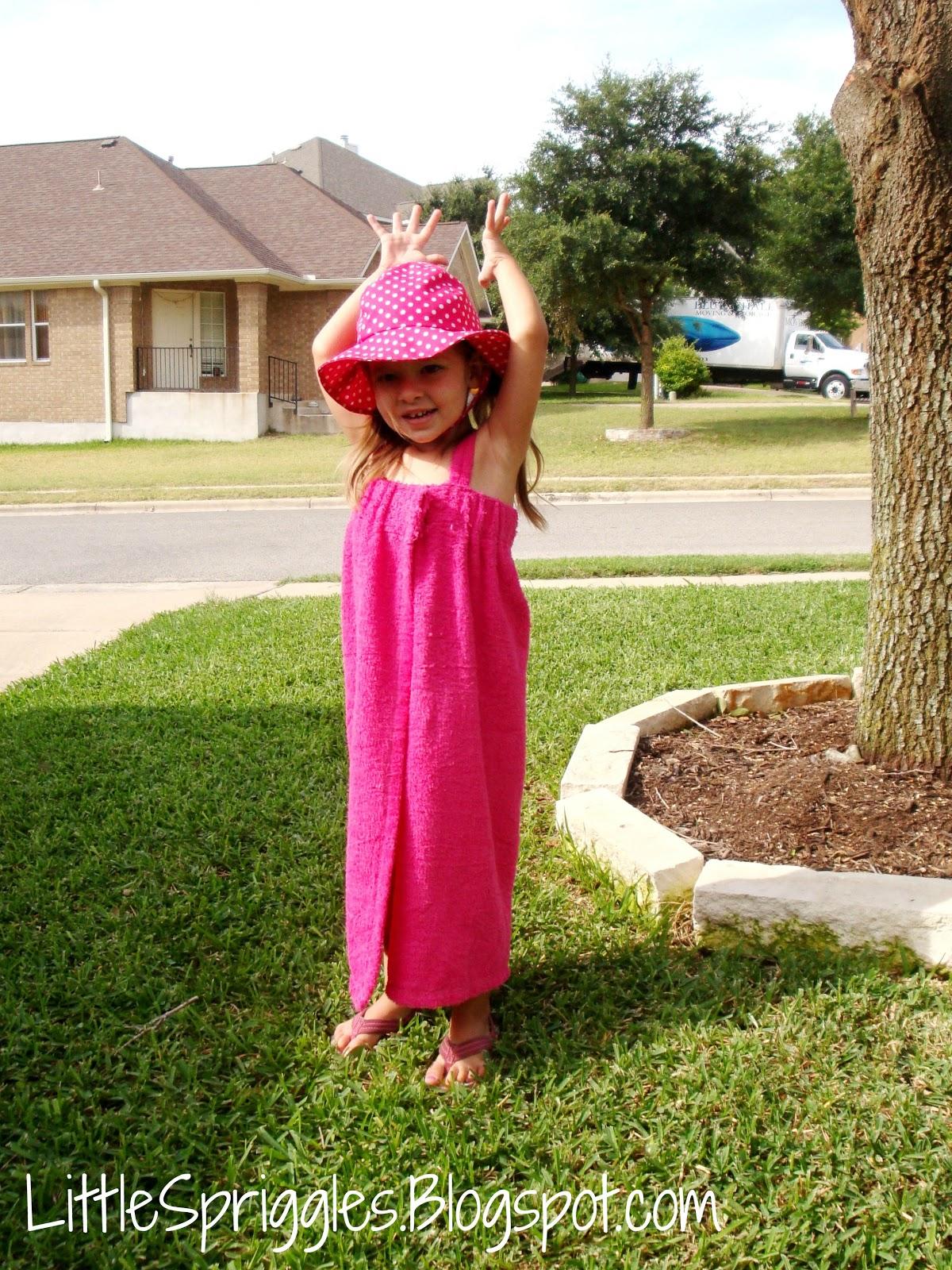 Little Spriggles: Toddler Towel Wrap