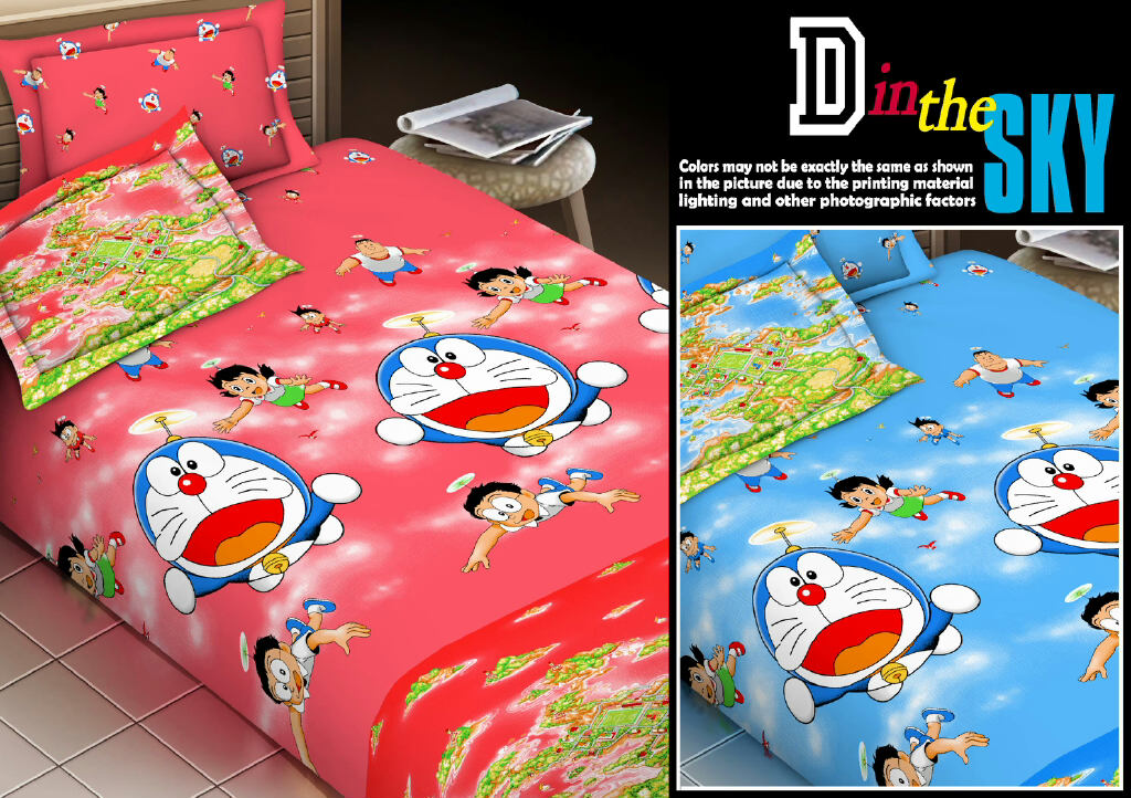 Sprei Anak Motif Doraemon in the Sky