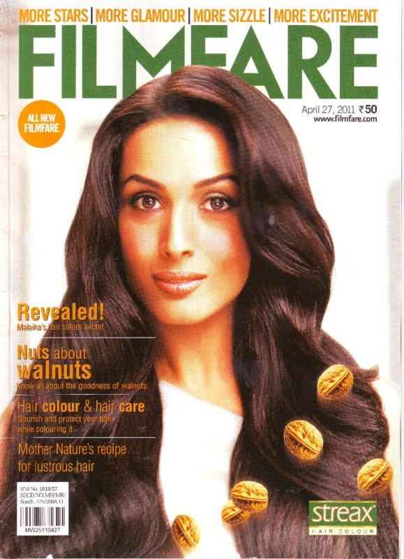 Malaika Arora on Filmfare Magazine Cover April 2011 Edition