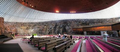 Iglesia de Temppeliaukio, la iglesia excavada en la roca