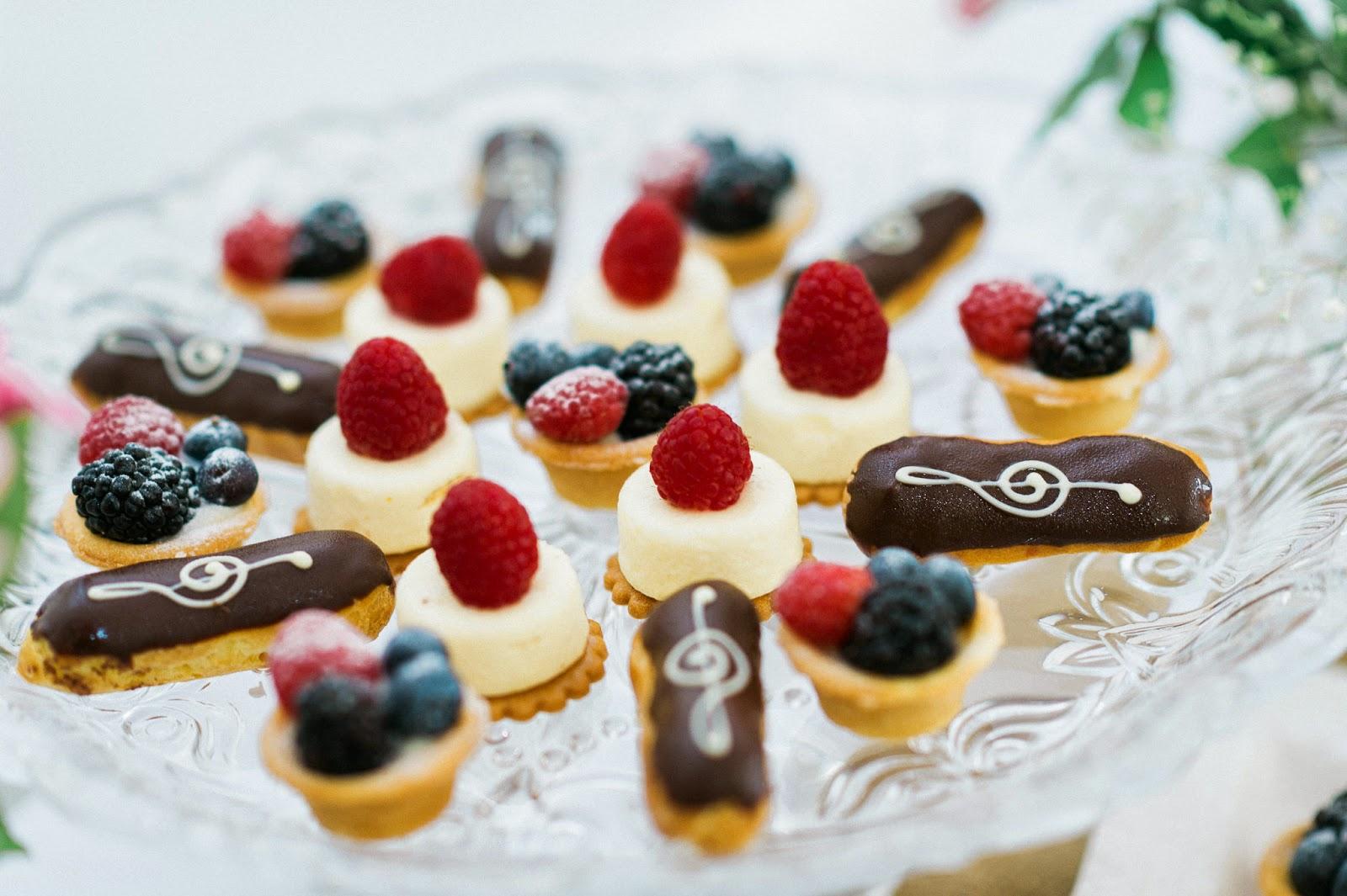 desserts close up