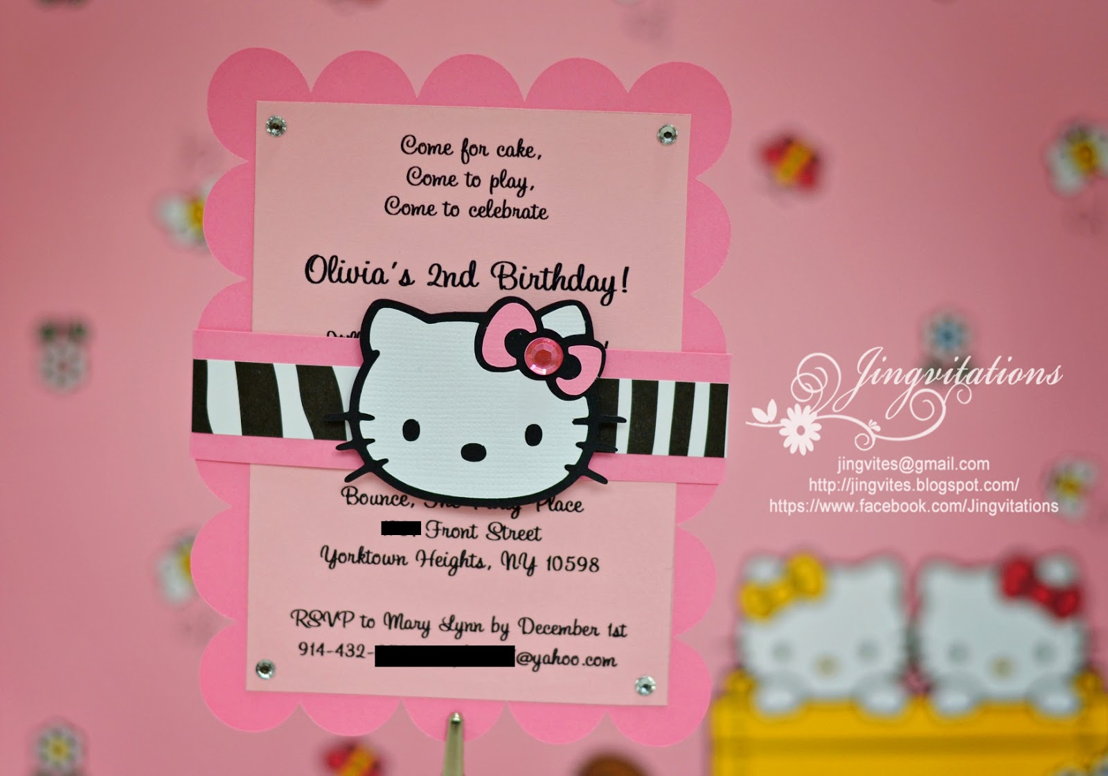 Jingvitations Hello Kitty Birthday Party Invitations
