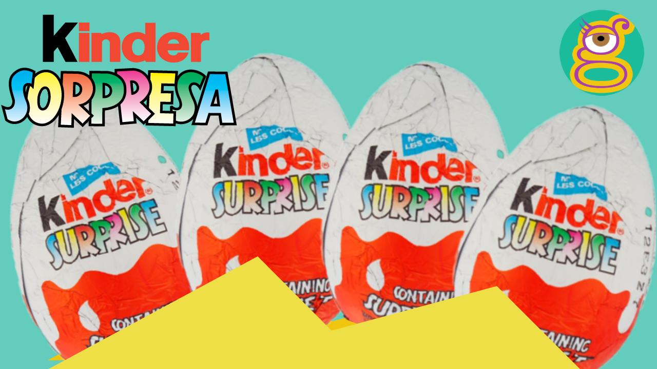 4 Huevos Kinder sorpresa 4 Kinder surprise eggs unboxing en español