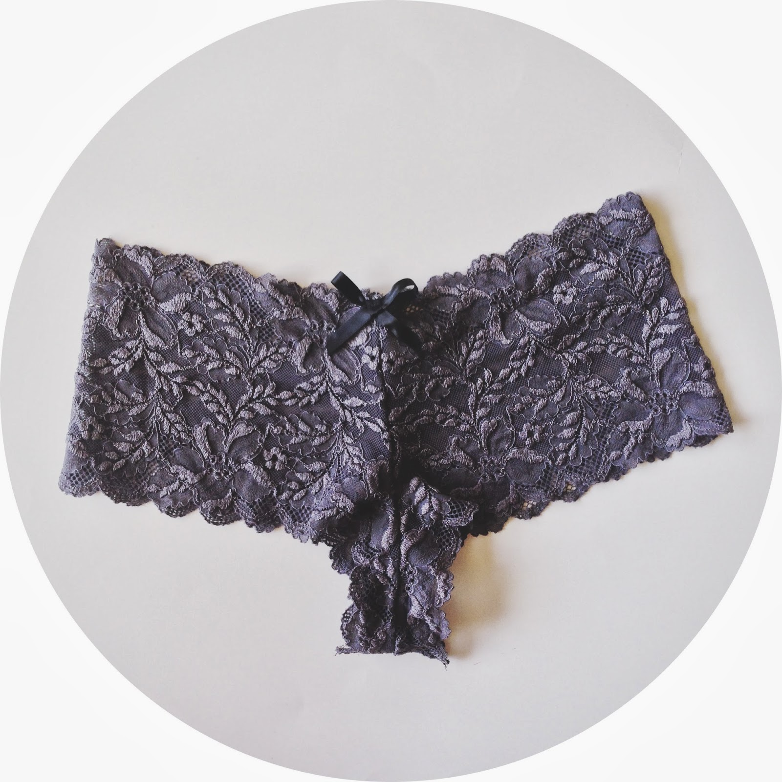 Garden of Grays Lace Cheeky Panty