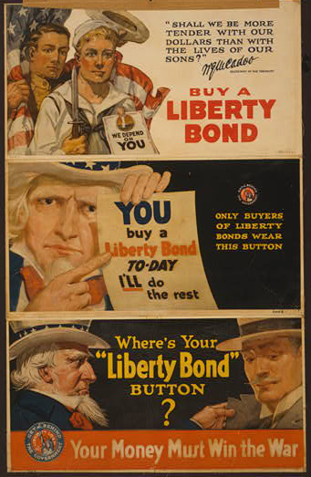 war, propaganda, military, united states, vintage, vintage posters, graphic design, free download, retro prints, classic posters, Buy a Liberty Bond, Your Money Must Win the War - Vintage War Military Poster