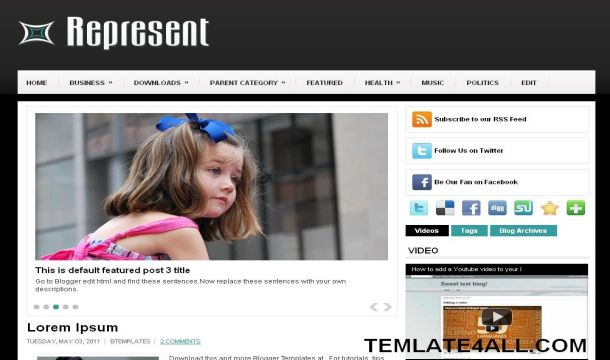Black and White Magazine Blogger Template