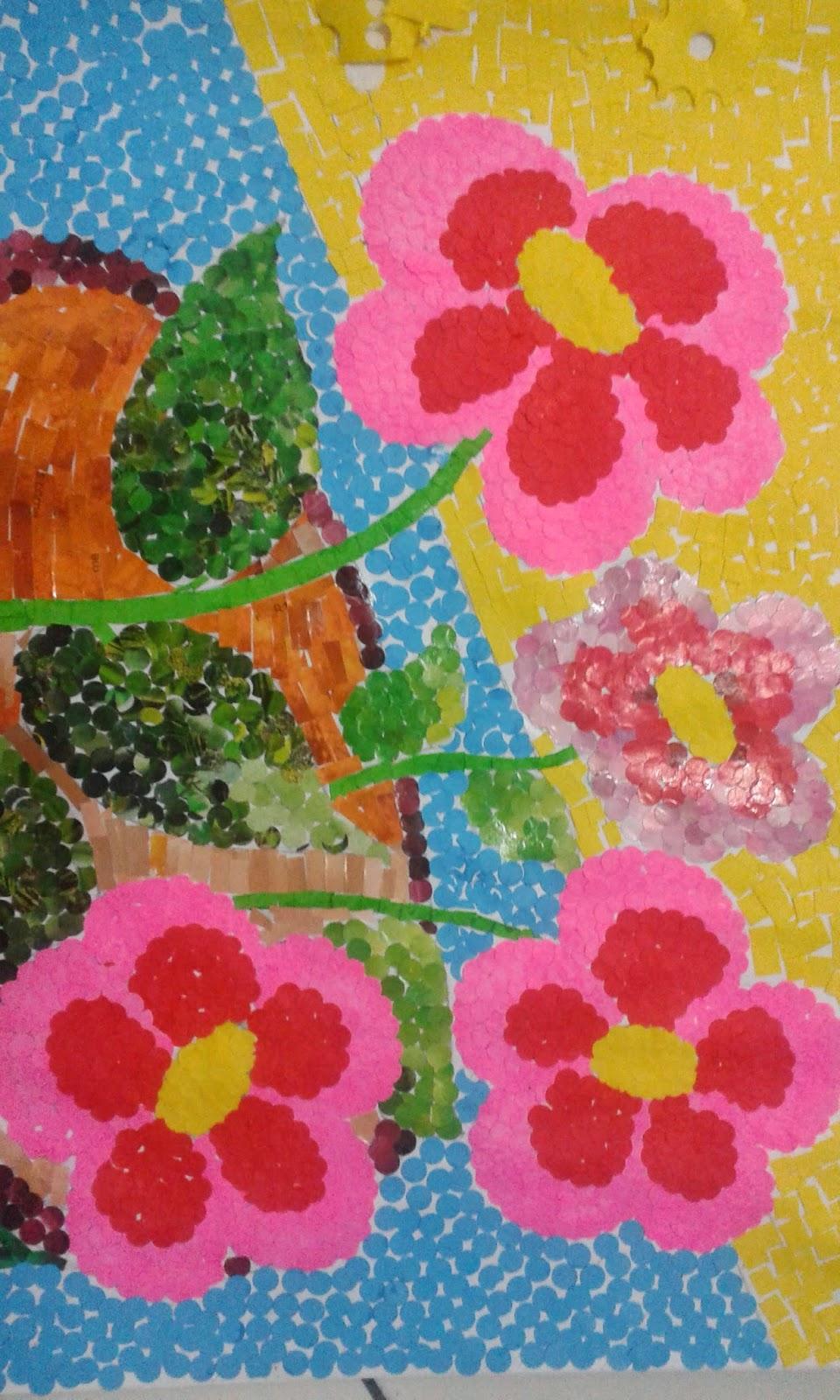89  Gambar Mozaik Bunga Mawar Dari Origami Paling Keren