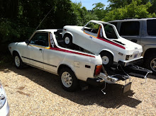 Subaru Brat on top of Brat