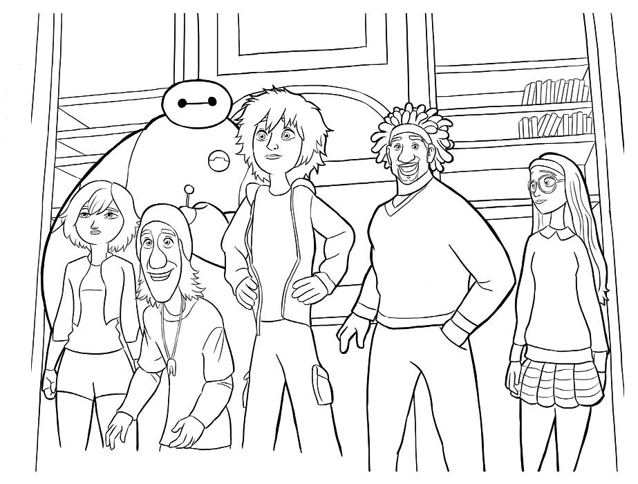 Dibujos Para Colorear De 6 Grandes Heroes - Dibujos Para Dibujar