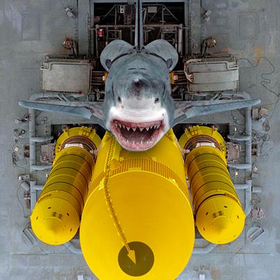 "Atlantis – STS135 – Atlantis Art: ""SharkAtlantis"". by ren@rt 2011."