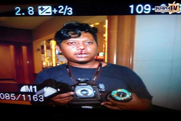 Jurugambar NST Ditumbuk Waris Keluarga MH17 (7 Gambar)