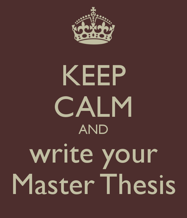 Writing a Master s Thesis 1/2