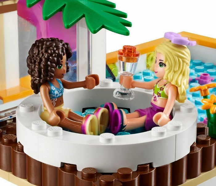 TOYS - LEGO Friends - 41008 La Piscina de Heartlake City  Juguete Oficial | Heartlake City Pool | A partir de 6 años