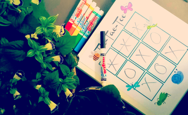 How To Make A DIY Dry-Erase Busy Book For Kids - Tic-Tac-Toe