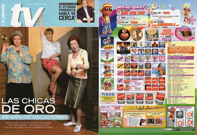 Las Supernenas en portada de El Semanal TV