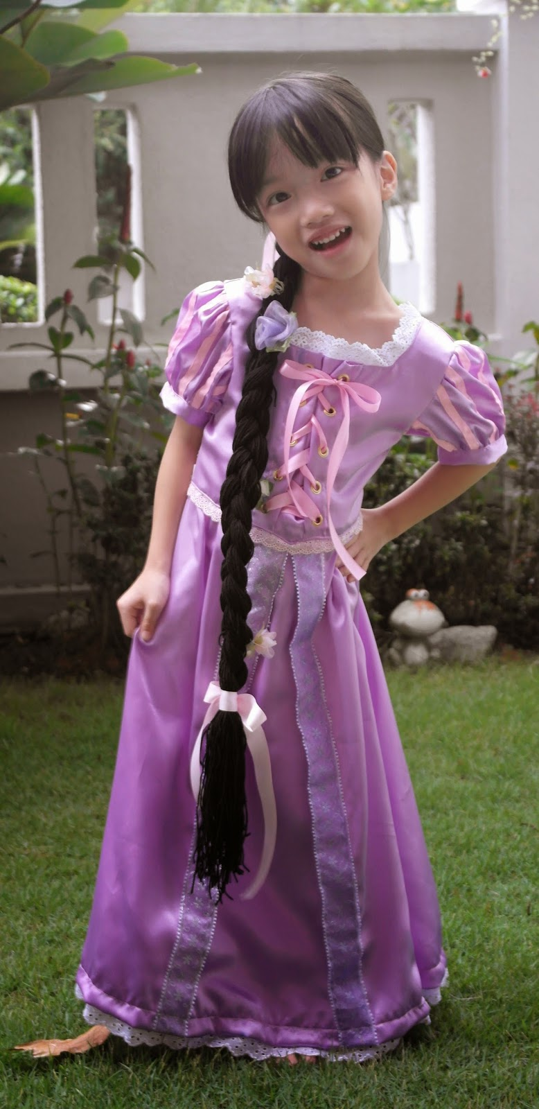 The girls were delighted with the dress and wig! I personally feel that the dress is beautiful and it has since become my favourite piece of work. )  sc 1 st  Flueneu0027s Corner & DIY Rapunzel Costume