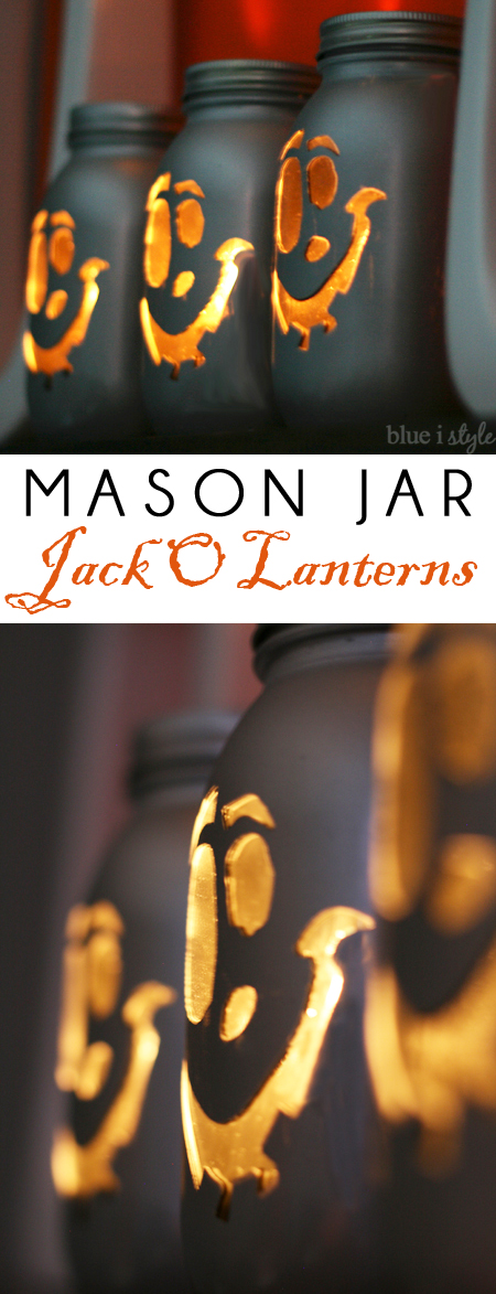 DIY Mason Jar Jack O'Lanterns