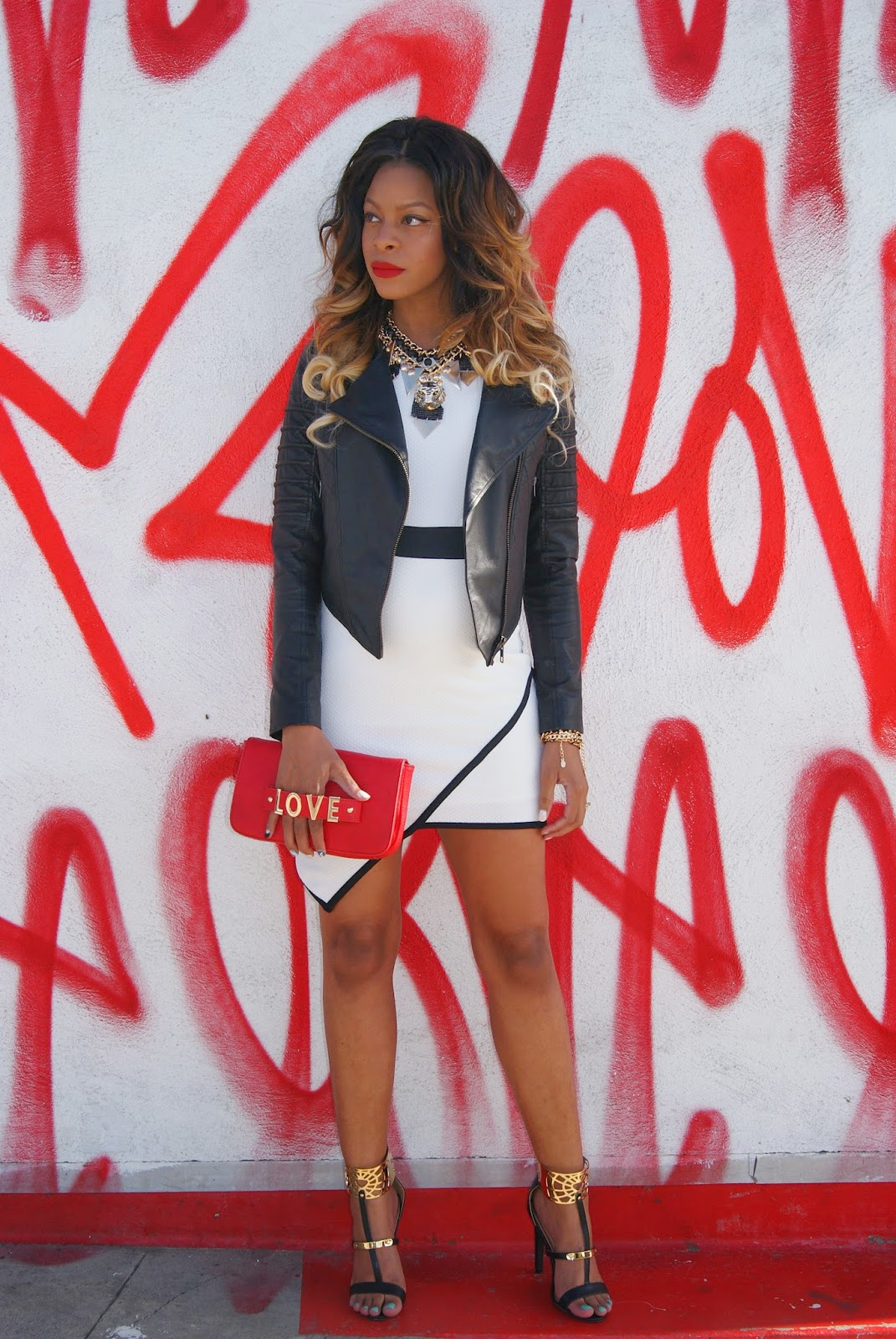 white dress, asymmetrical dress, clutch bag, allthingsslim, maternity style, ombre hair, 2B Bebe, valentines day outfits,