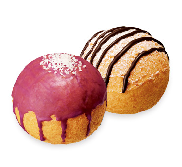 Pon de Shu Donut Murasaki Imo and Cookies and Cream