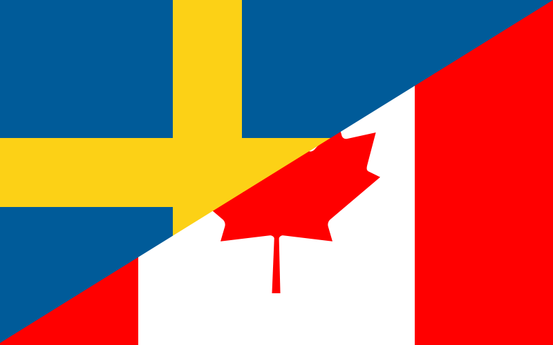 2014 Olympic hockey Sweden versus Canada