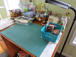 cleared quilting cutting counter
