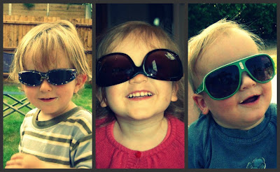 Kids in sunglasses
