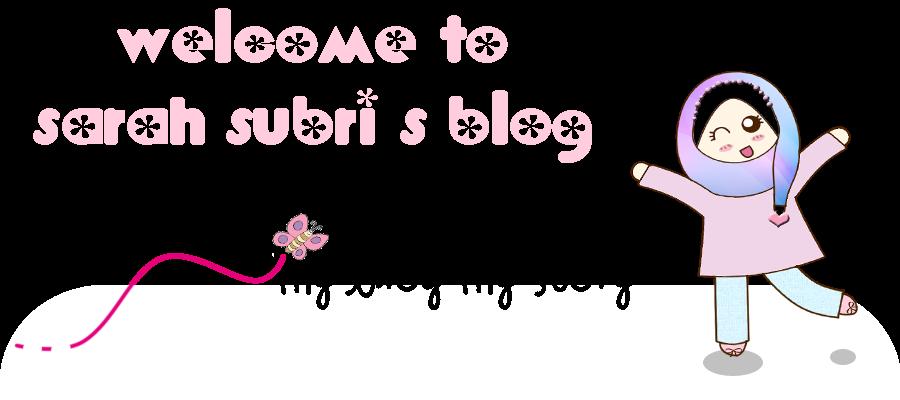 sarah subri's blog