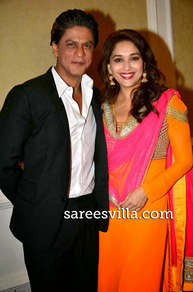Shah Rukh Khan and Madhuri Dixit