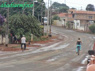 Rua saindo para Bom Despacho