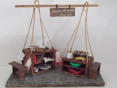 Miniature Ancient Satay Stall