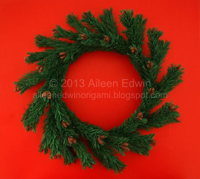 Handmade Paper Christmas Wreath