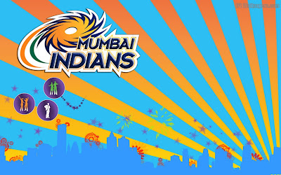 Mumbai Indians logo 3D Wallpaper
