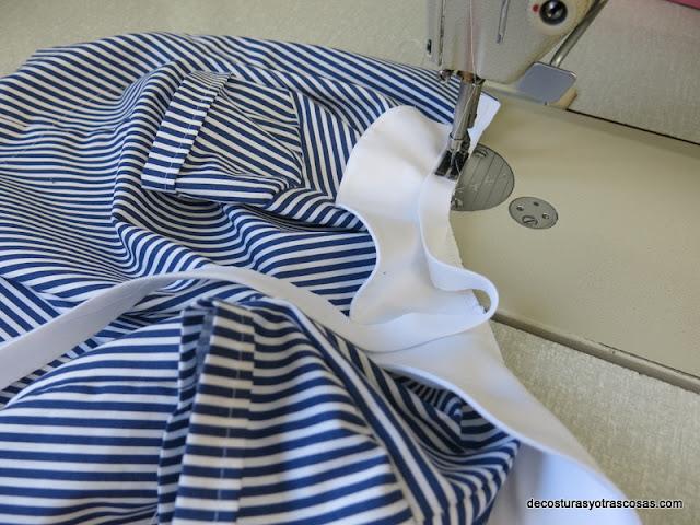 como coser un cuello bebé