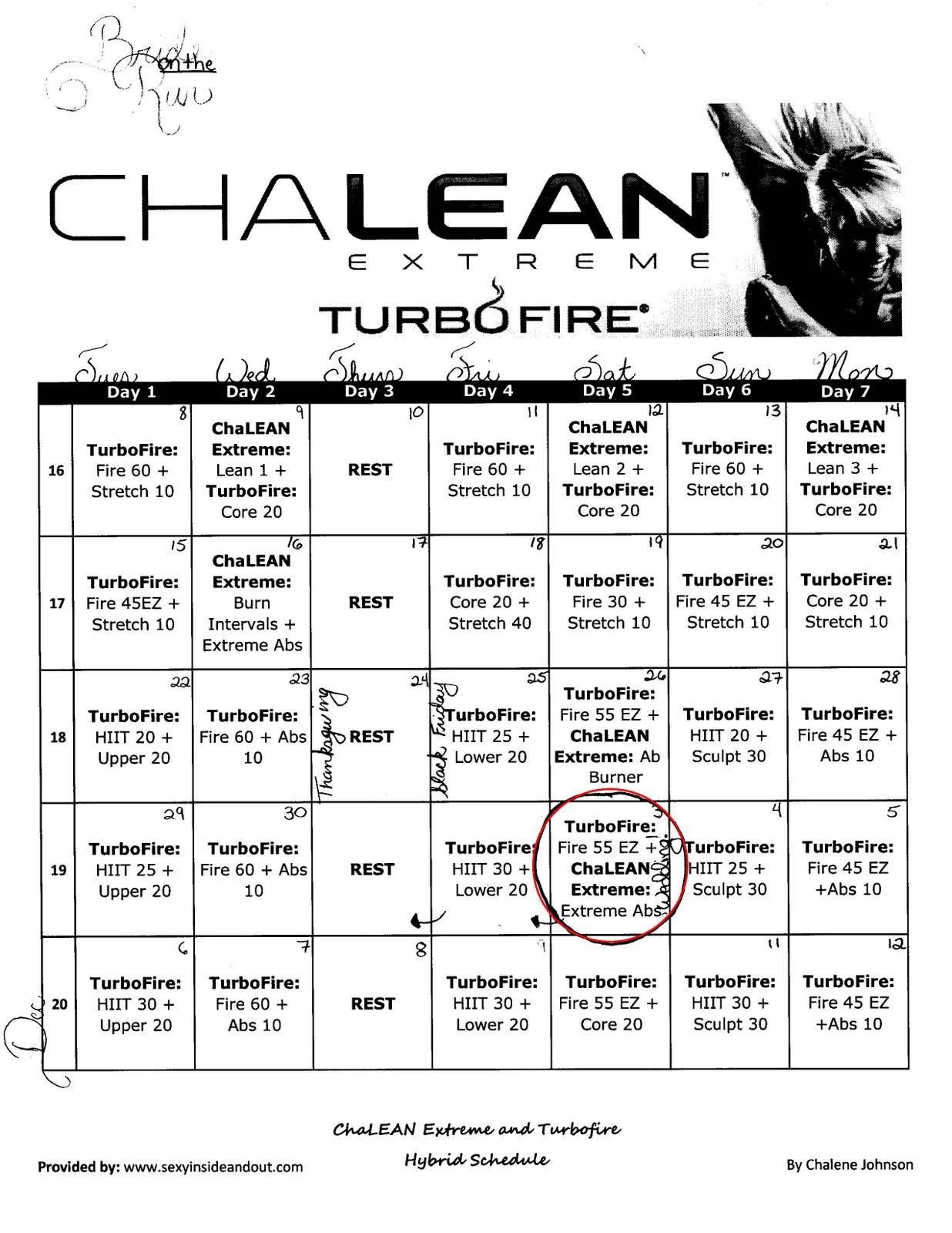 chalean extreme worksheets