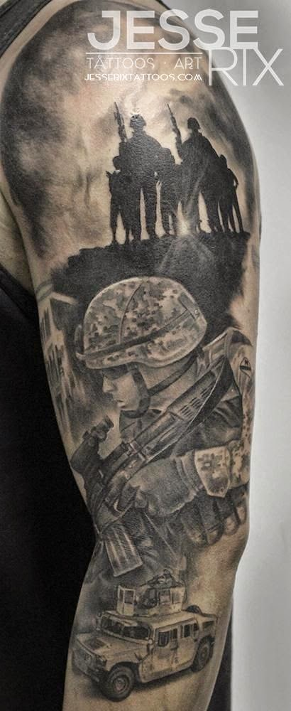 ♥ ♫ ♥ marine Tattoo--- I want T to get a tat kinda like this, I love this tattoo!! :) ♥ ♫ ♥