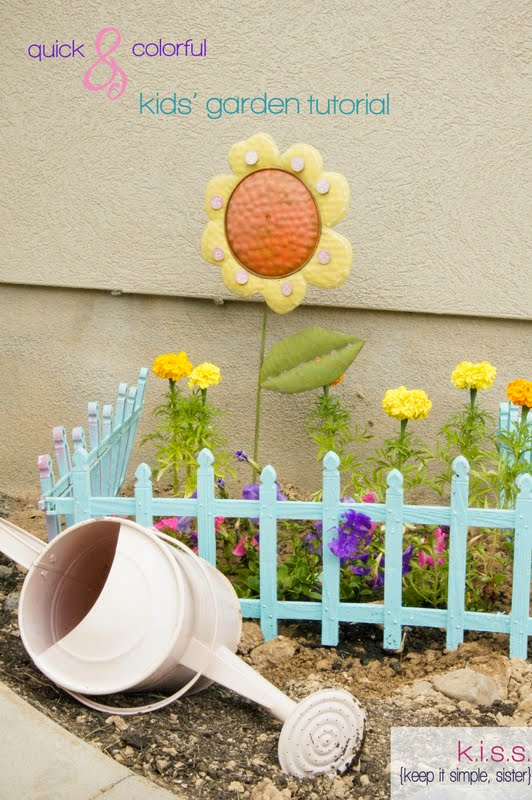 K.I.S.S. {Keep It Simple, Sister}: Quick and Colorful Kids\' Garden