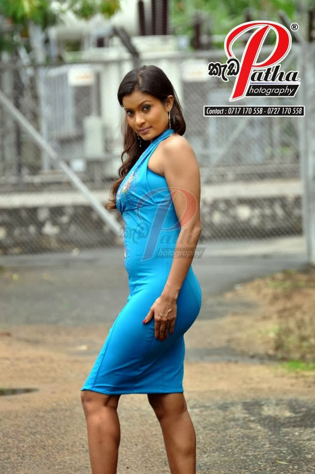 Himali Siriwardana sexy blue back
