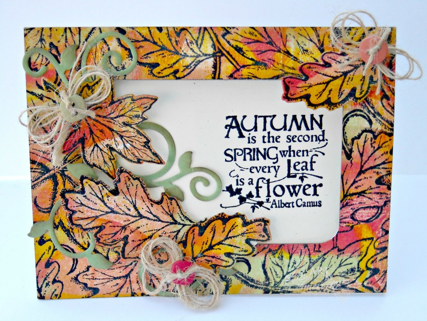Stamps - Our Daily Bread Designs Leaves Background, Autumn Blessings,  ODBD Custom Fall Leaves and Acorn Die, ODBD Custom Fancy Foliage Die