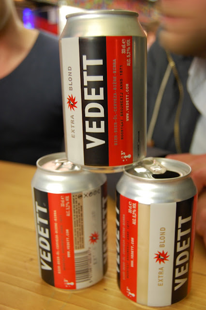 Tower of Vedett beer