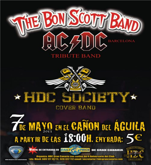 CONCENTRACION HARLEY DAVIDSON & CUSTOM BIKES con: THE BON SCOTT BAND ...