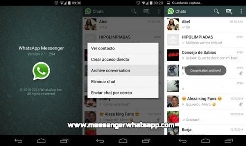 Como ocultar tus conversaciones en WhatsApp